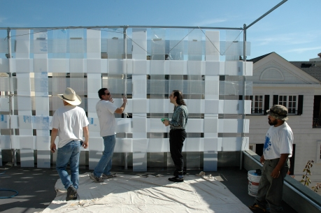 Weaving Acrylic Fence Panels